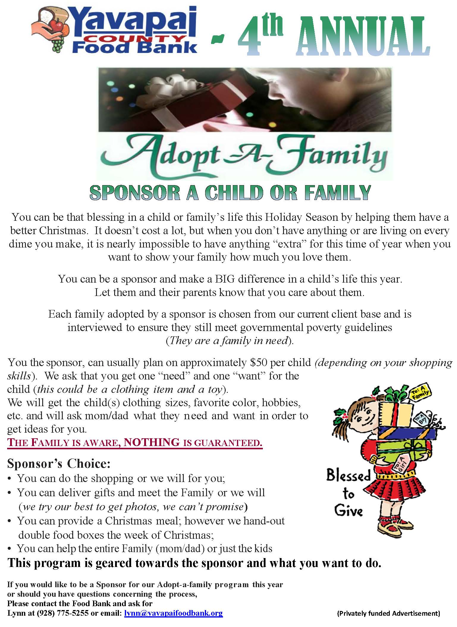 Adopt-A-Family for Christmas |